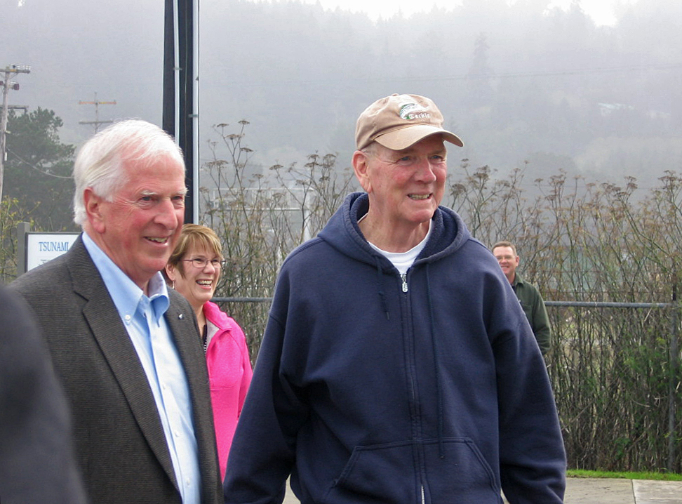 "Jimmy Smith, who represented Humboldt County's First District from 2001 to 2012, was honored by Congressman Mike Thompson (left) in 2011 for ""his inclusiveness, diplomacy, and transparent leadership style"" in chairing the North Coast Integrated Regional Water Management Plan Policy Review Panel."