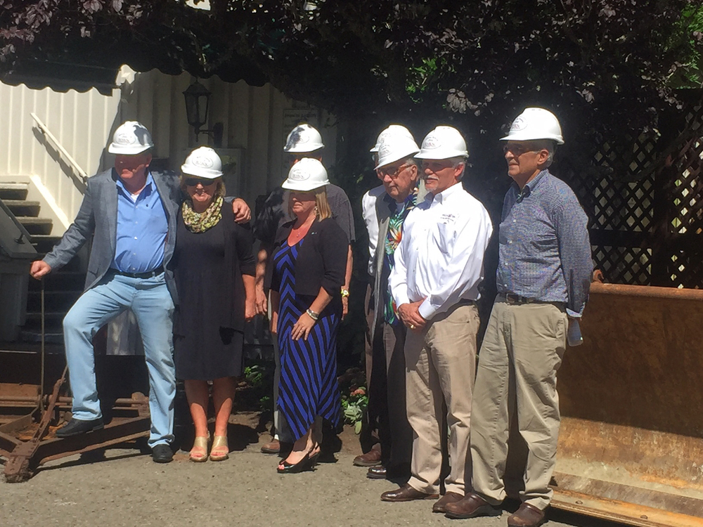 A groundbreaking ceremony marked the Benbow Inn's $10 million expansion project. (Bonbon Inn)