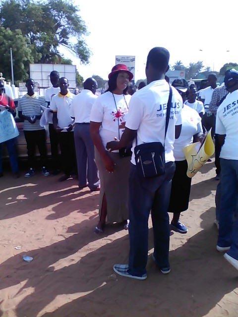 Some participants at Jesus March – The Gambia