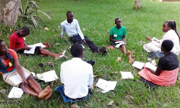 Group discussion at Camp - Uganda