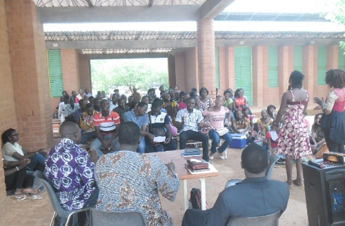 Teaching on biblical marriage during a Couples retreat ~ Burkina Faso