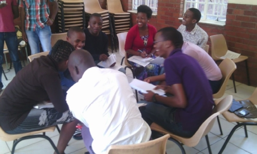 Group Discussion at Leadership Training – South Africa