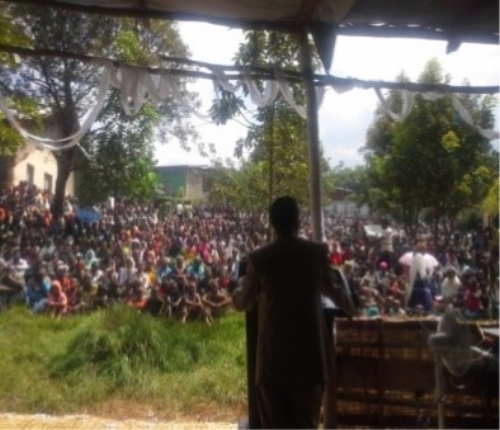 Section of the people listening to the message - Bona, Ethiopia