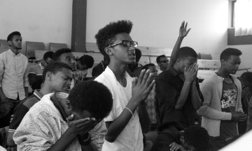 Prayer time during training - Addis Ababa Ethiopia