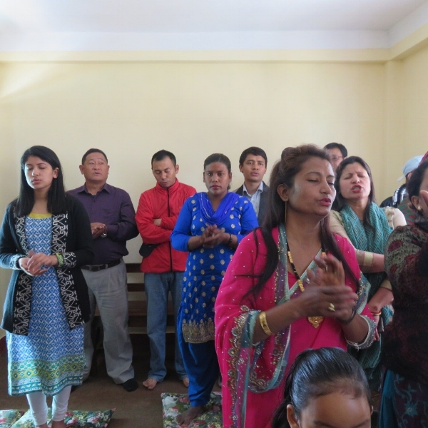 Worship in Bethphage Church – Nepal