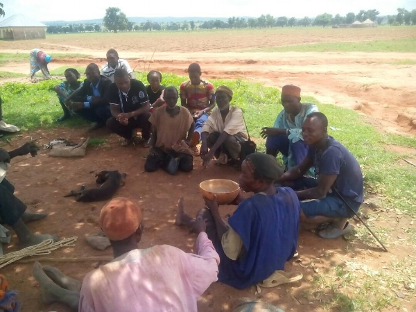 Students Evangelizing Village Elders – Angu, Nigeria