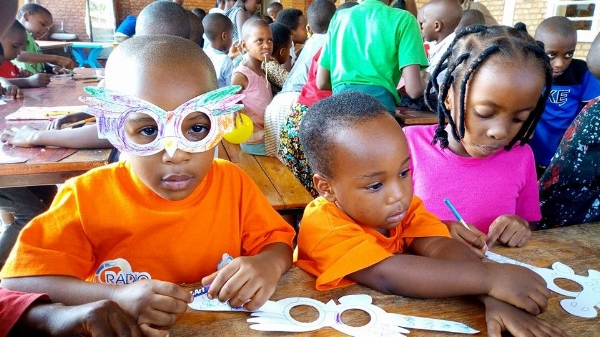 Fun time at Camp - Rwanda