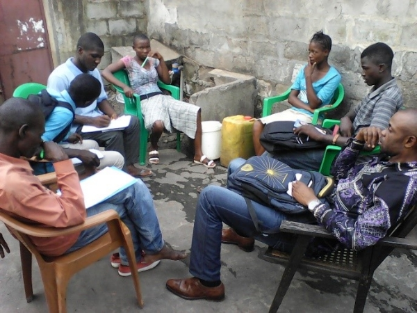 Small Group at Life-Skills Youth Leaders' Training – Congo DR