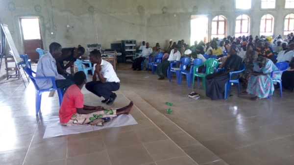 Skit at Positive Parenting Seminar – Kumi, Uganda