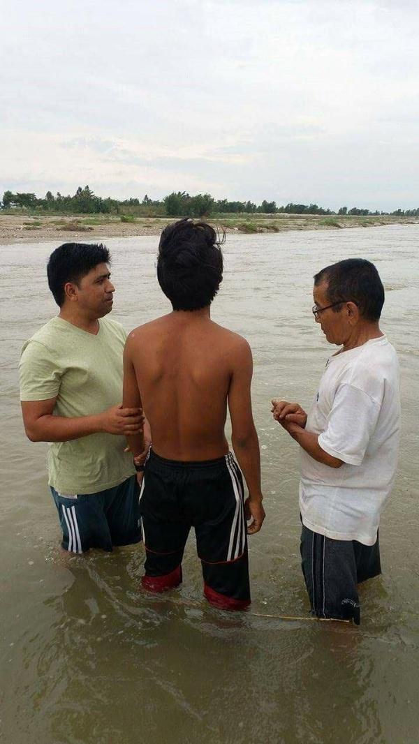 Baptism of Mikal - Nepal