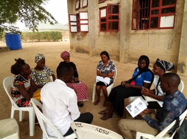 Small Group Meeting During the Training Program – Nigeria