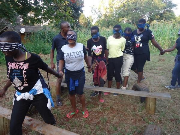Team-Building Activity at Camp - Tanzania