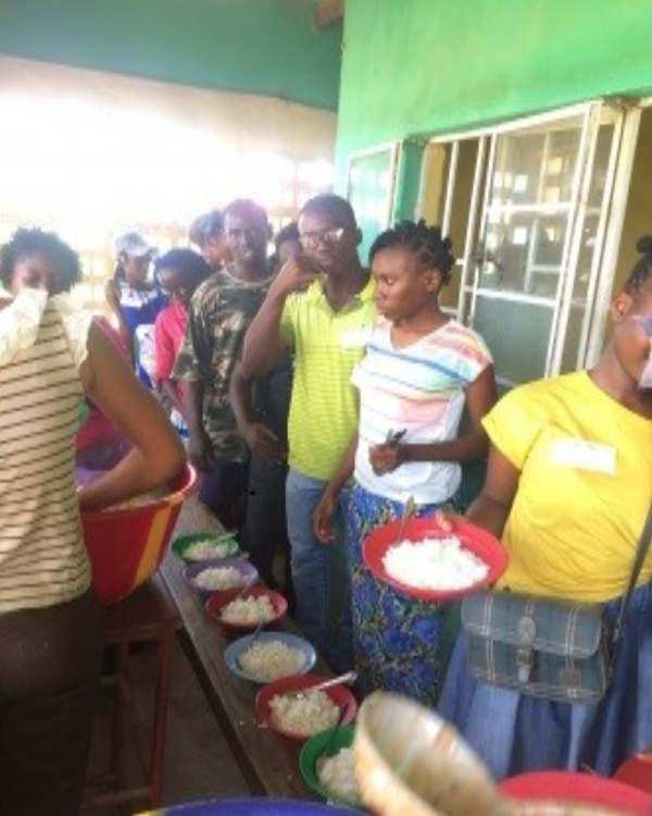 Meal Time at Camp – Sierra Leone