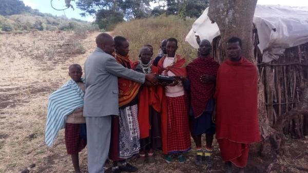 Maasai Group Receiving Proclaimer - Tanzania