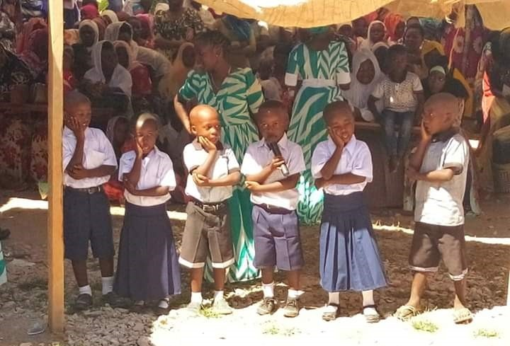 Pupils Making Presentation - Tanzania