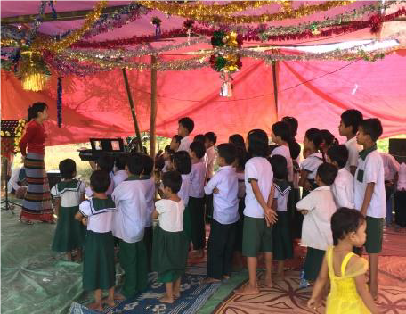 Sunday School in Session - India