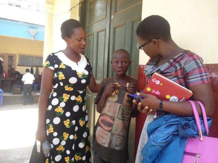 Ministering to a Street Child – Uganda