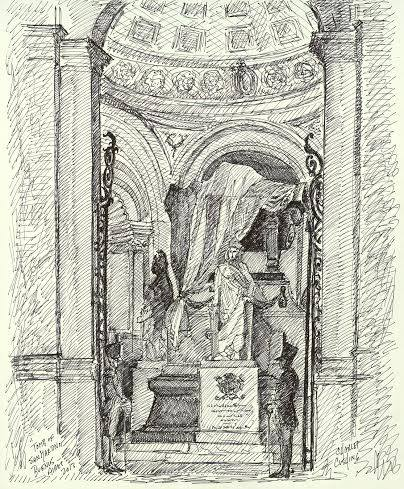 """Tomb of San Martin, National Cathedral"" 19 x 14"" $500.00"