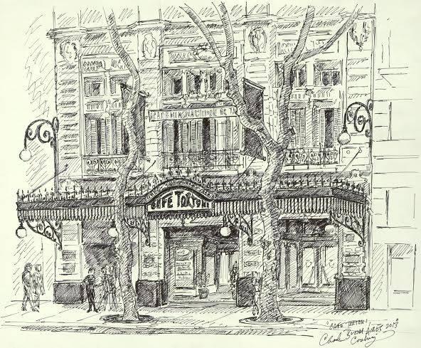 """""""Cafe Tortoni"""" 14 x 19"""""""