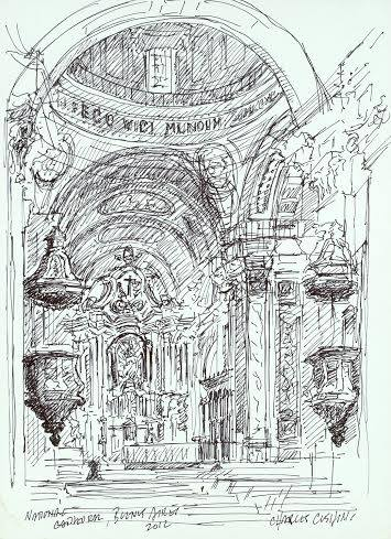 """Altar, National Cathedral""  $150.00 unframed"