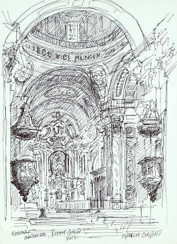 """""""Altar, National Cathedral""""  $150.00 unframed"""