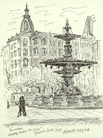 """Fountain, Nueve de Julio"" (sold)"