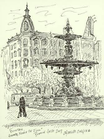 """Fountain, Nueve de Julio"" (sold)"