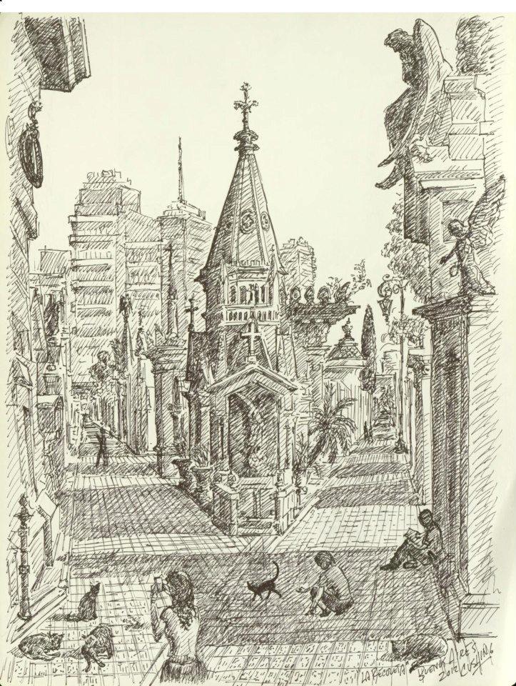 """Cementerio De La Recoleta"" 19 x 14"""
