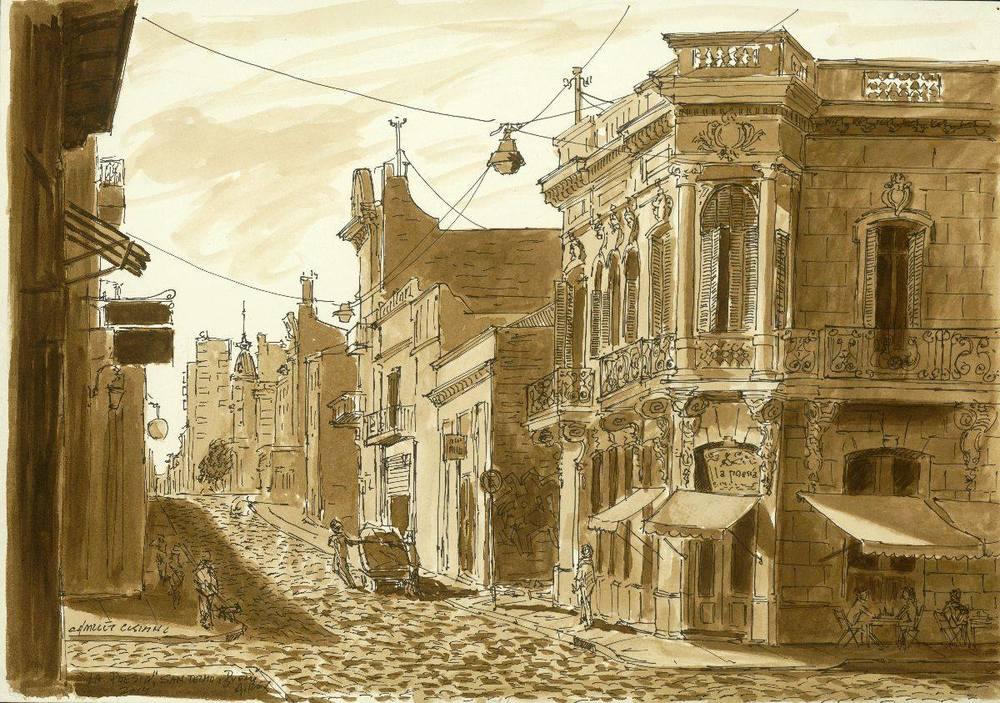 """Bodega 'La Poesia,' Calle Bolivar, San Telmo"" 14 x 19"" $500.00"