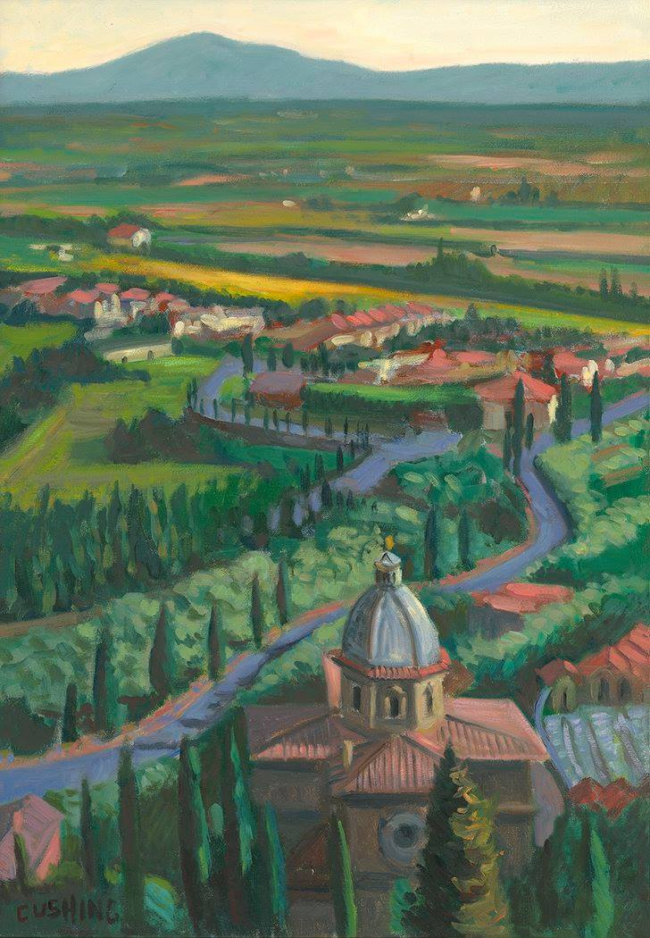 """The Val di Chiana from Cortona"" 27 x 19"" (sold)"