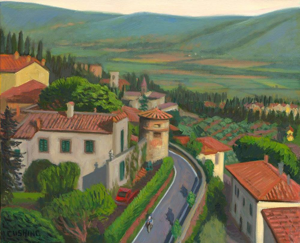 """Tower and Valley, Cortona""  22 x 27""  (sold)"