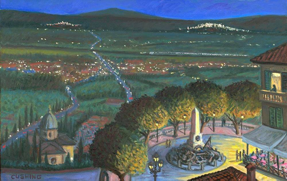 """""""Piazza Garibaldi at Night"""" 18 x 28"""" $1250.00"""