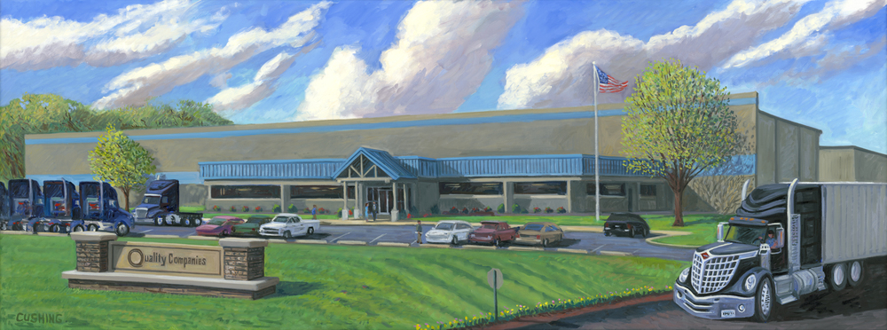 """Quality Companies, New Headquarters""  36 x 84"" (sold)"