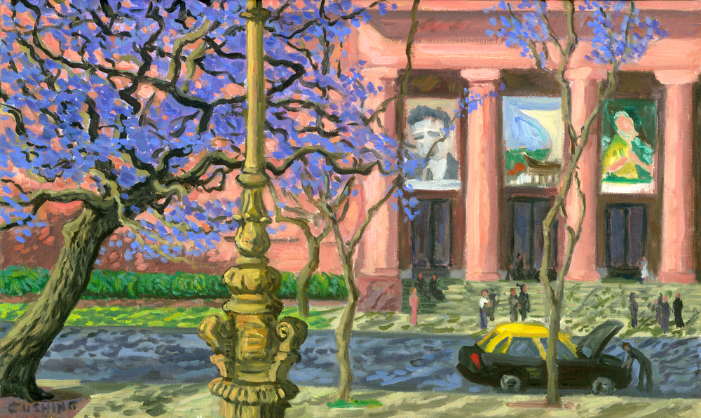 """Jacaranda and Museo de Beaux Artes"" 16 x 30"" (sold)"