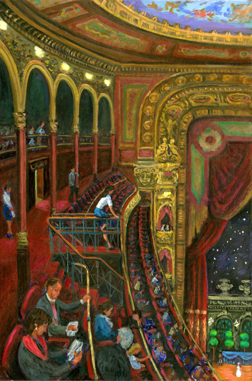 """Cinderella, Teatro Colon"" 27 x 17"" (sold)"