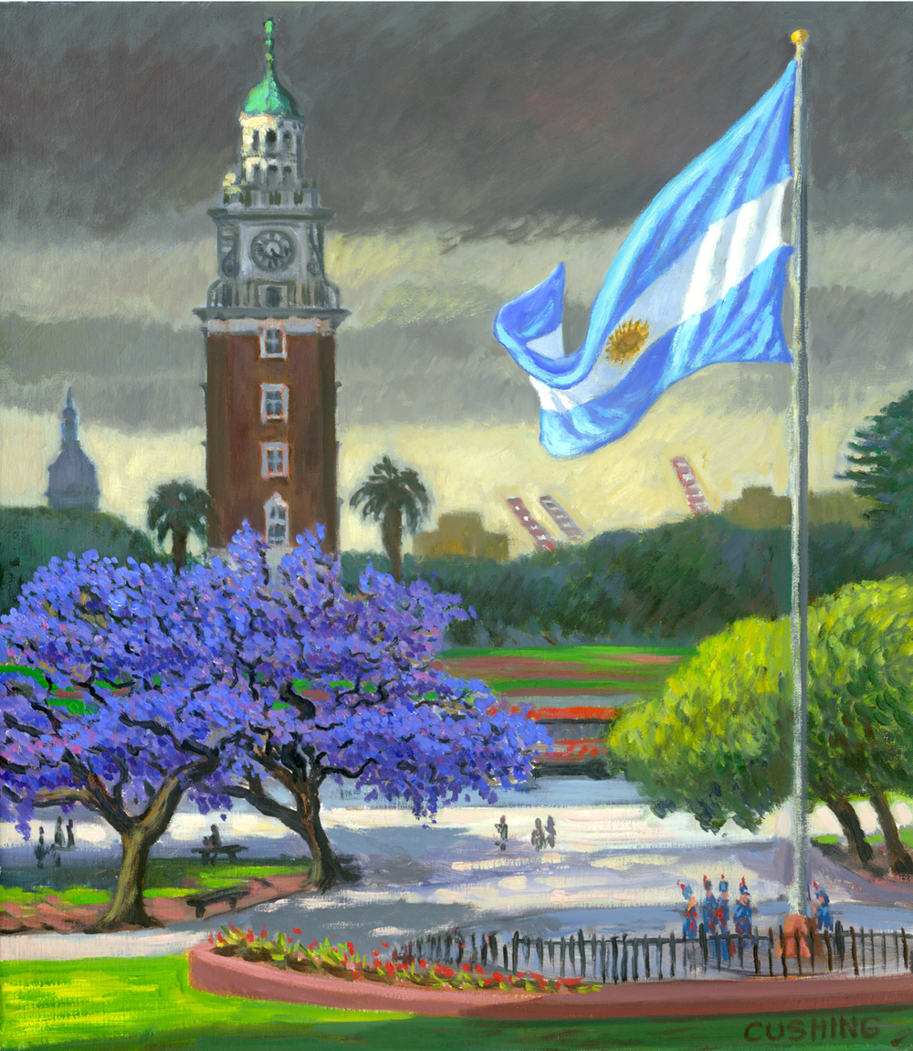 """Malvinas Memorial and Torre Ingles"" 27 x 17"" $1750.00"