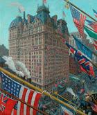 """""""Armistice Day, Bellevue-Stratford Hotel"""" 48 x 32""""  (sold)"""