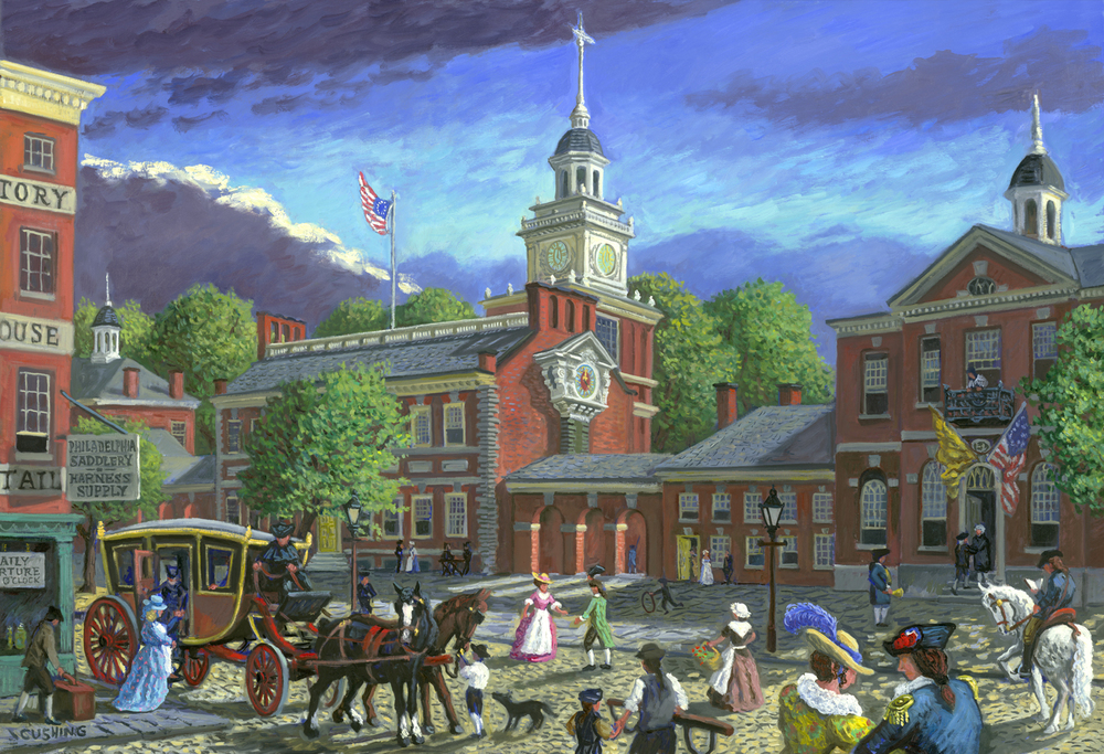 """Independence Hall"" 32 x 52"""