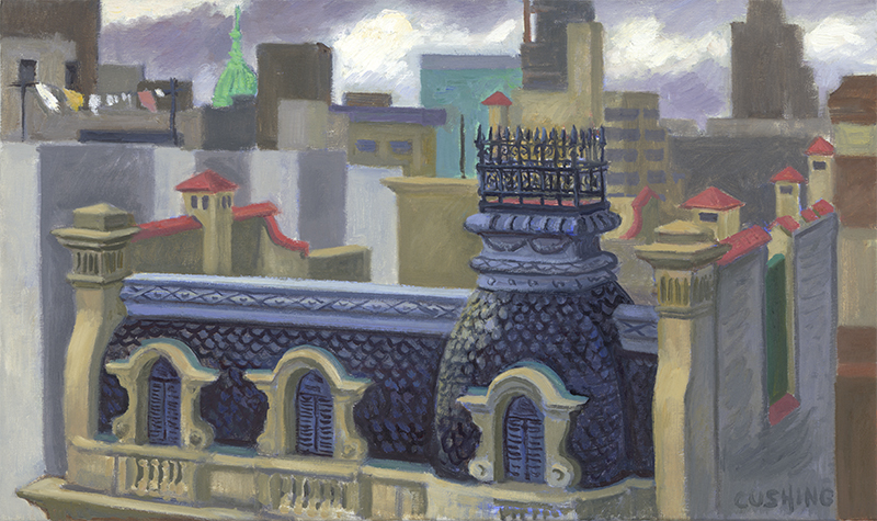 """Cupola and Rooftops"" 12 x 20"" (sold)"
