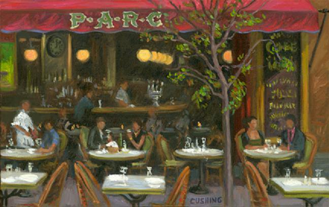 """Tables at PARC""  16 x 30"" (sold)"
