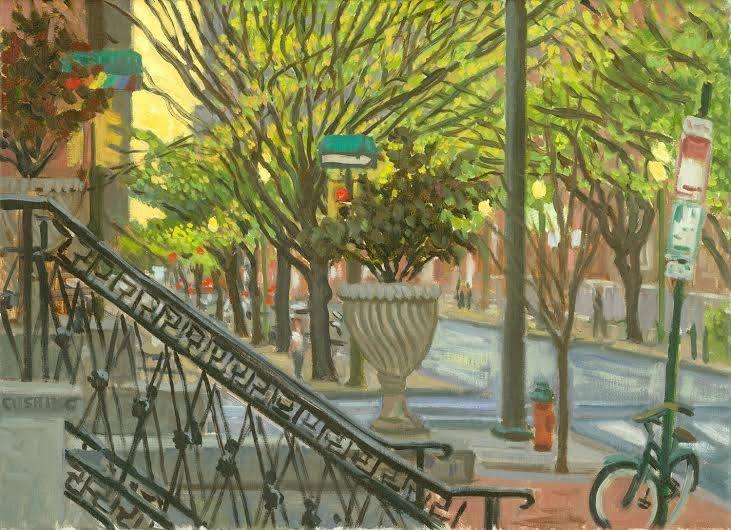 """Urn, Spruce Street""  18 x 24"" (sold)"