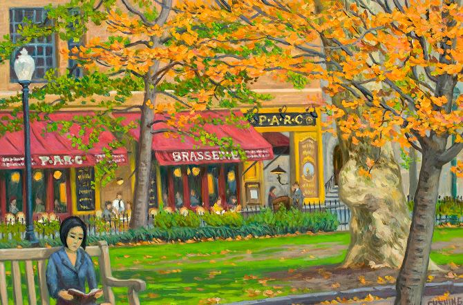 """Autumn, Rittenhouse Square""  20 x 30"" (sold)"