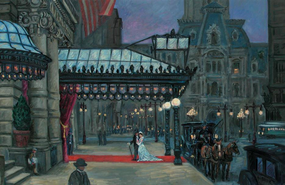 """The Red Carpet, Bellevue-Stratford Hotel, Circa 1910""  32 x 50"" (sold)"