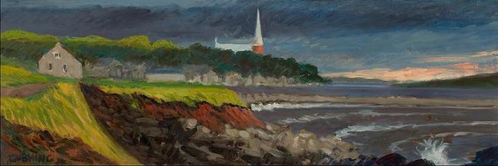 """Cheticamp, Nova Scotia""  12 x 24""  $500.00"