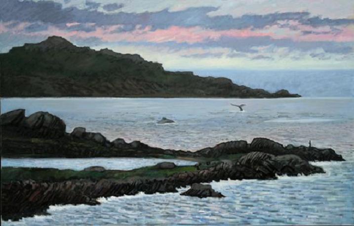 """Whales Near Keels, Newfoundland""  36 x 52""  $3500.00"