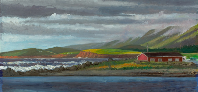 """Margaree Harbor, Cape Breton, Nova Scotia""  18 x 36""  $2500.00"