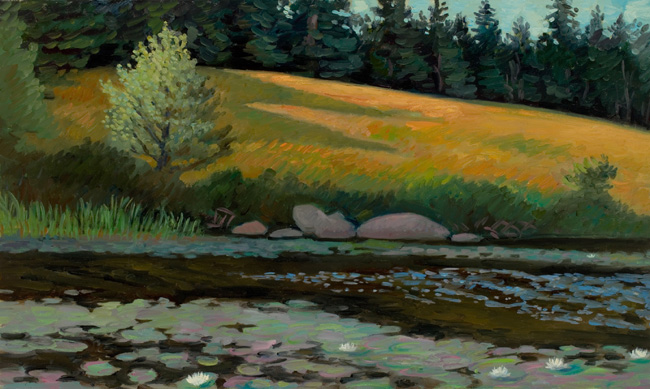 """Lilypads and Meadow, Acadia National Park""  24 x 30""  $2500.00"