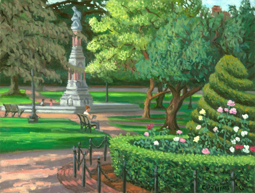 """Roses, Boston Public Garden""  20 x 24"" (sold)"