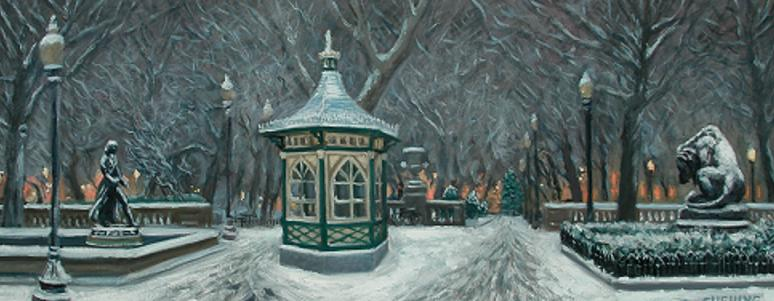 """Winter, Rittenhouse Square""  16 x 40"" (sold)"
