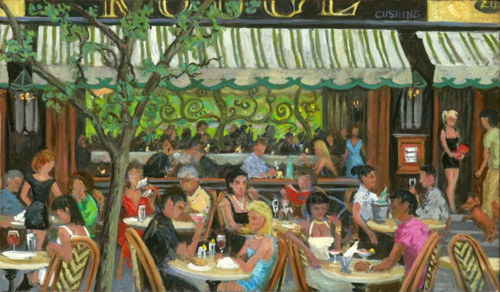 """Diners at Rouge""  24 x 40"" (sold)"